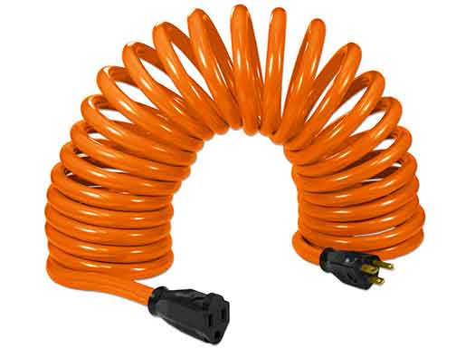 coil extension cords