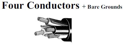 four conductors 600/2000 volts w type ppe