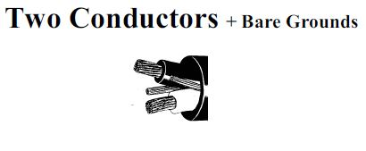 Two conductors + bare grounds g type ppe 600/2000 volts cable