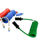 heavy duty trucking coiled air and electrical cables