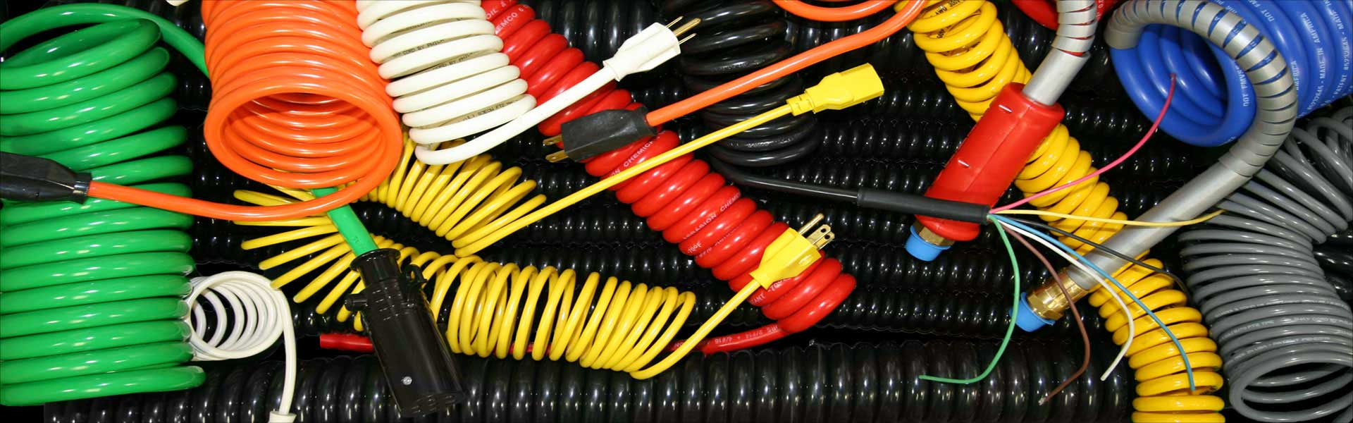 Coiled electrical Cable